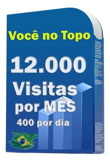 12.000 Visitas Por Mês Para Sites, Blog, Loja Virtuais.