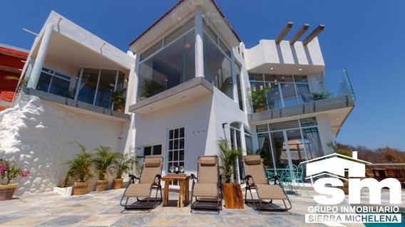 Hermosa Villa En Venta Frente Al Mar En Puerto Ángel (oax-145)