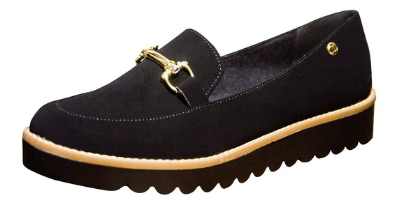 Sapato Feminino Mocassim Sapatilha Tratorada Baixa
