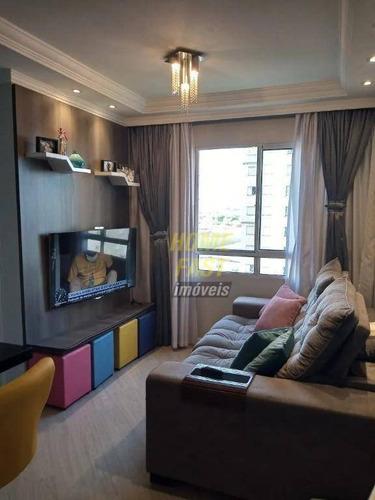 Apartamento Com 2 Dormitórios À Venda, 44 M² Por R$ 277.000 - Ponte Grande - Guarulhos/sp - Ap2311