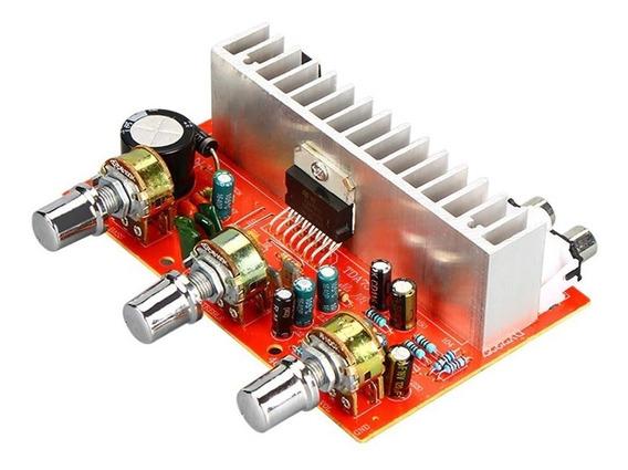 Amplificador De Áudio Estéreo Com Pre Amplificador Tda7377