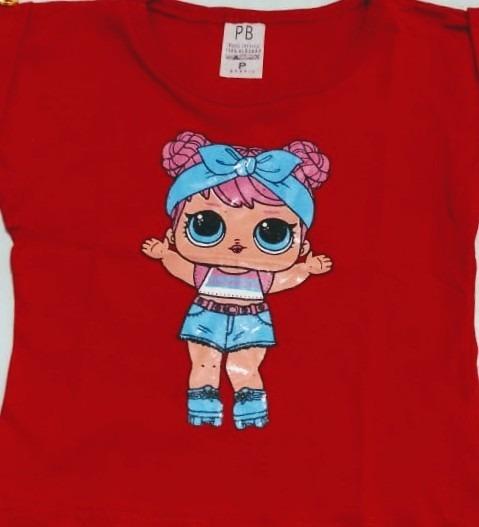 Kit Atacado C/10 Blusinha Infantil Menina Personagens