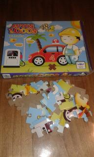Puzzle Para Niños Autos Locos