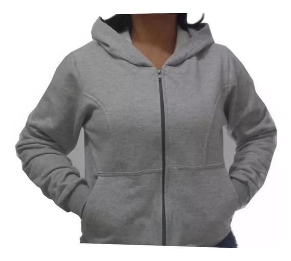 Blusa De Moleton Feminina Capuz Zíper Agasalho Moletom Frio