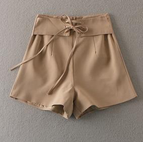 66d64add02 Short Linho Cintura Alta Com Cadarço - Shorts para Feminino no ...