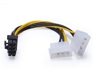 Cable Adaptador 8 Pin A Dual Molex 2 Und Gpu Tarjeta Video