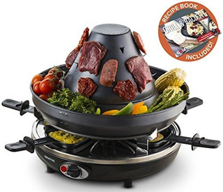 Gourmia Geg1400 Electric Raclette Tabletop Party Grill 6 Per