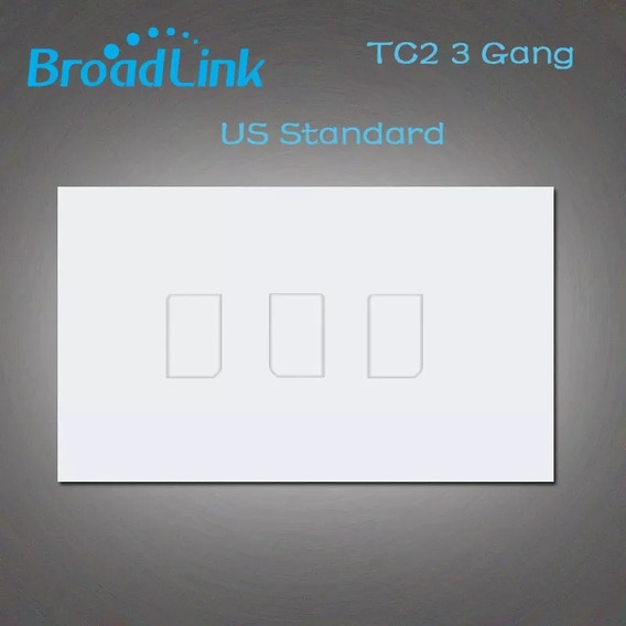 Domotica Inteligente Interruptor Smart Broadlink Tc2 3 Gang