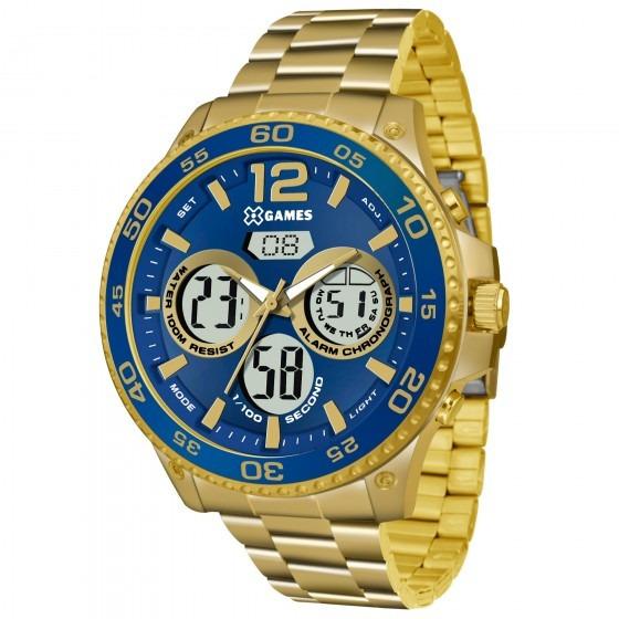 Relógio X Games Masculino Xmgsa005 D2kx Dourado - Refinado