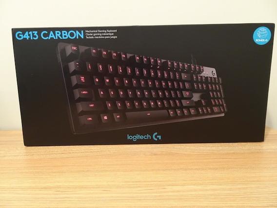 Teclado Mecânico Gamer Logitech G413 Carbon
