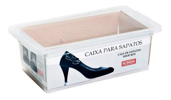 Caja Plástico Guardar Zapatos Organizador Apilable / 12 Unid