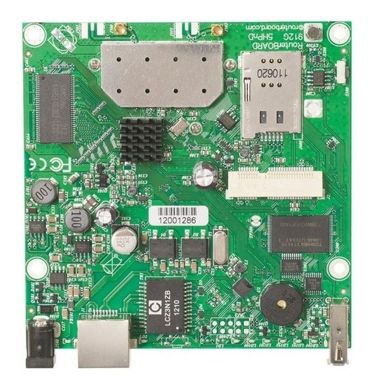 Placa Wifi Router Board Rb912uag-2hpnd 2.4ghz - Mikrotik