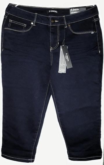 Blue Jeans De Dama Tipo Capri