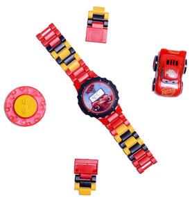 Relógio Digital Carros 3 Infantil + Carrinho Mcqueen Lego