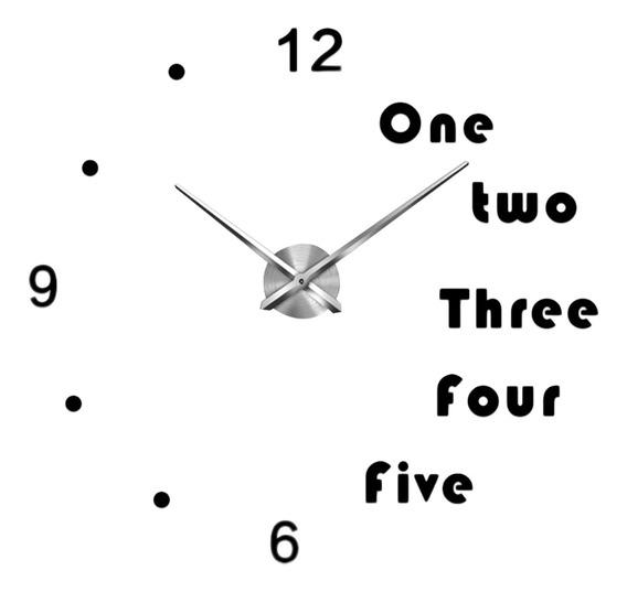 3d Diy Relógio De Parede Decoração Adesivo Espelho Para H