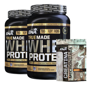 True Made Whey Protein 2 X 2 Lb + Creatina Neutro 300g
