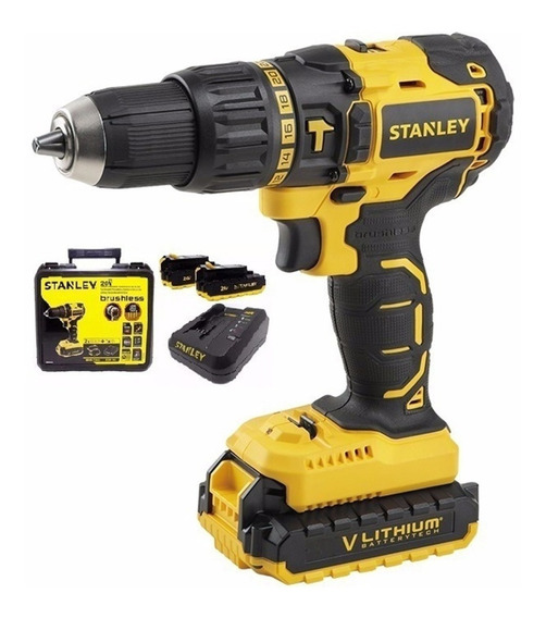 Taladro Stanley 20v Inalambrico Sbh201s2k 360w + 2 Baterias