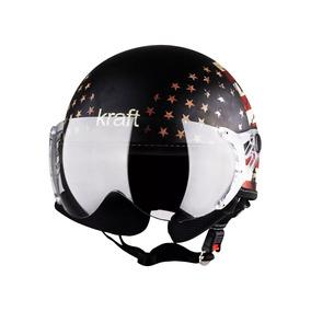 Capacete Kraft Plus Usa Preto Fosco Custom Harley