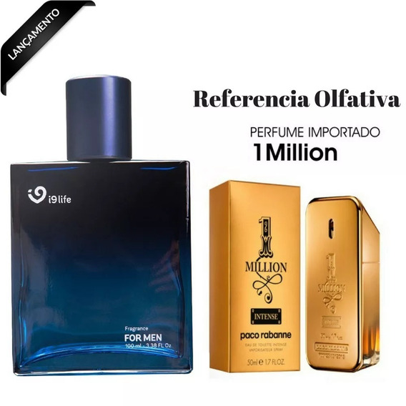 Perfume Importado Masculino 1 Million 100ml I9 Life Original