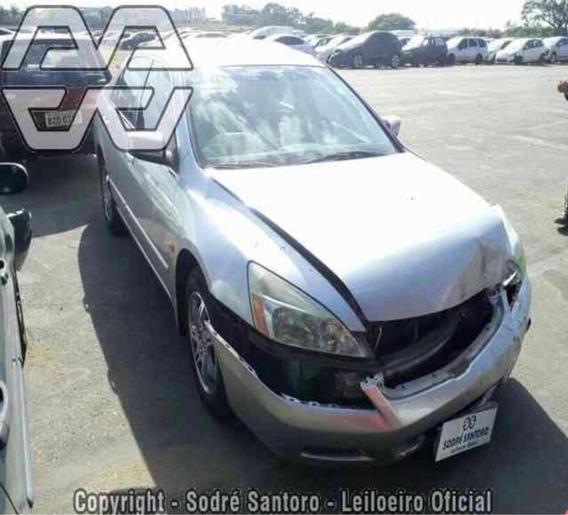 Sucata Peças Honda Accord 3.0 V6 Ex 4p 2006 Motor Câmbio
