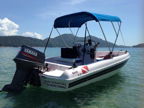 Imagem 1 de 15 de Lancha - 16 Pés - Real Powerboats - Motor Yamaha 60hp