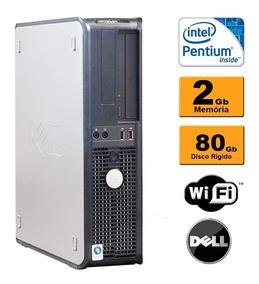 Cpu Dell Mini Optiplex Dual Core 2gb Hd80 Dvd Wifi Usado