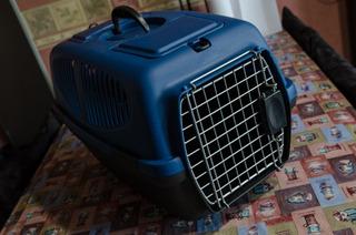 Caja Jaula Transportadora Perro Y Gato Azul