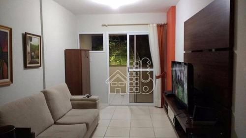 Apartamento Com 2 Dormitórios À Venda, 80 M² Por R$ 520.000,00 - Santa Rosa - Niterói/rj - Ap0854