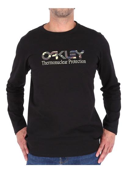 Polera Oakley Hombre M/l Black 4
