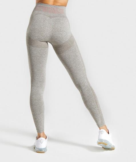 Gymshark Leggings Ropa Deportiva Mujer Flex Khaki Marl / Taupe Leggins Deportivos