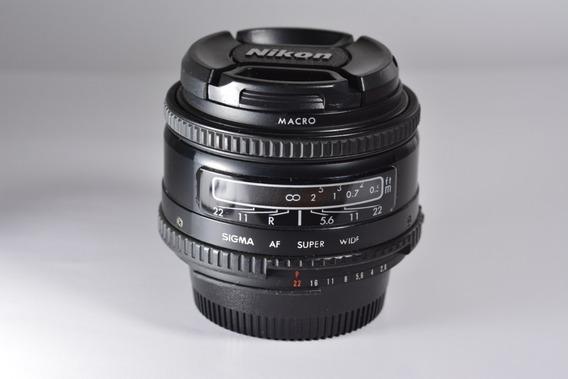 Nikon Sigma Super Wide Ii Af 24mm F/2.8 Macro Full Frame