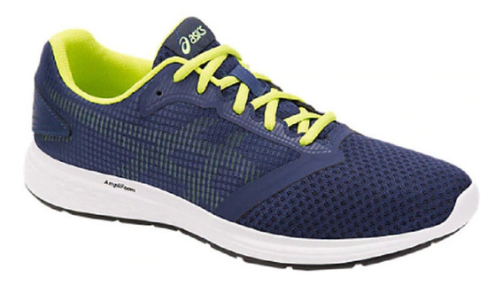Tenis Asics Patriot 10 Deep Ocean/flash Yellow Para Hombre