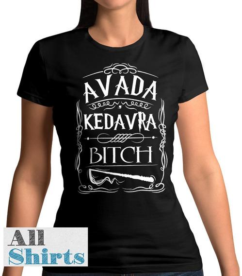 Camiseta Babylook Avada - Harry Potter Feminina 100% Algodão