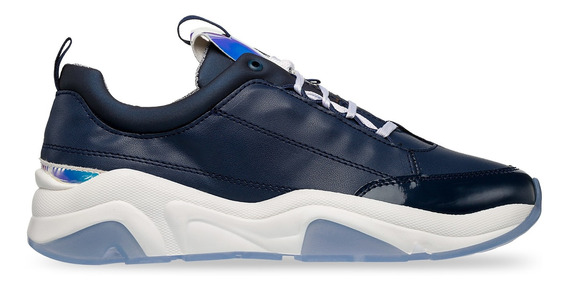 Tenis Sneaker Christian Gallery Dama Marino Y Blue D301-3