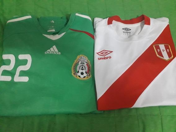 Camiseta De La Seleccion De Mexico Y Peru
