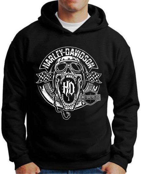 Blusa Moletom Canguru Harley Davidson
