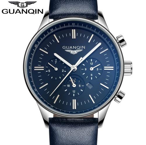 Relógios Masculino De Luxo Guanqin Quartzo