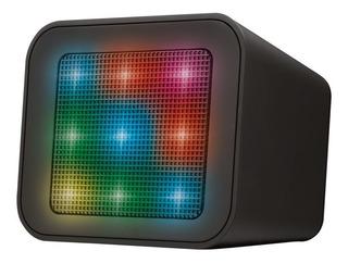 Parlante Trust Dixxo Cube Bluetooth 3w Rms Con Luces Color
