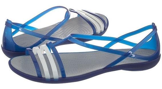 Sandalia Crocs Isabella Sandal W Ceruleam Blue