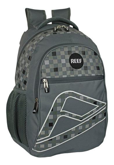 Mochila Reef 18 Rf-208 Gris/gris/rojo (1207899)