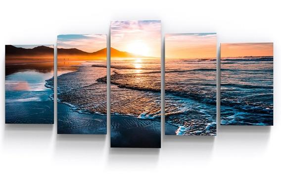 Quadro Decorativo Mar Por Do Sol Praia Sala Copa Empresa