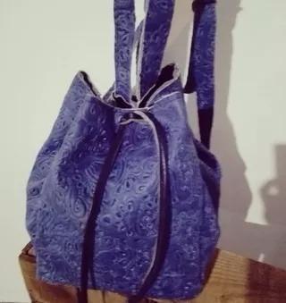 Mochilas De Cuero Color Azul