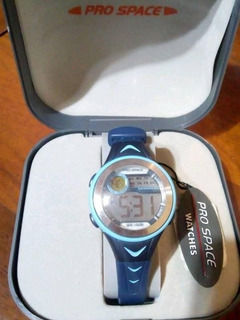 Reloj Digital Deportivo Azul Pro Space