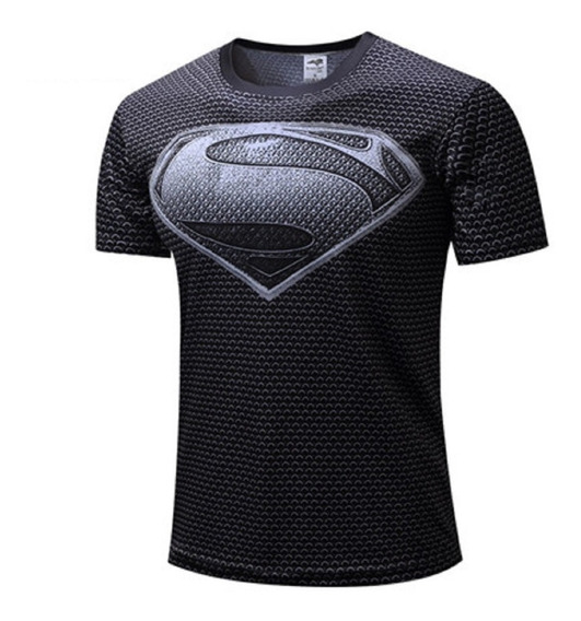 Camisa Compresión Super Heroe Superman Hombre Araña