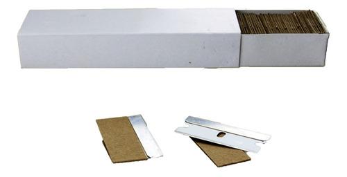 Repuestos Hojas Acero De Carbono 100 Uni Scraper Polarizado