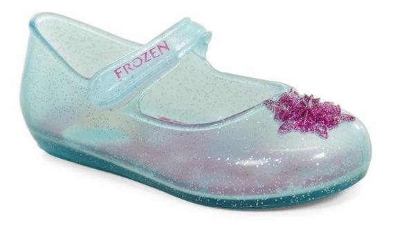 Sapatilha Frozen Baby Disney Azul Glitter Rosa - 21404
