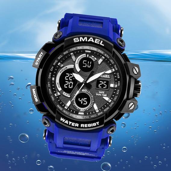 Militar Relógio Smael S Shock Esportivo Tático Mergulho 50m
