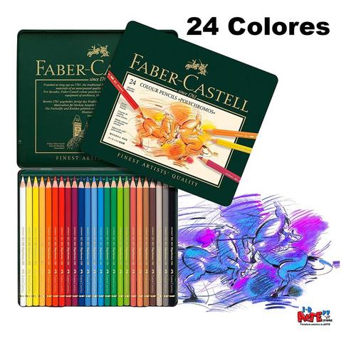 Imagen 1 de 4 de Faber-castell Polychromos Artists, Caja De 24 Colores Aleman