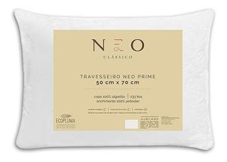 Travesseiro Neo Prime Ecopluma Percal Algodão 233 Fios 50x70
