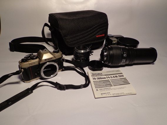 Câmera Nikon Fm10 + Lente Sigma 70-300mm + Lente 35-70mm